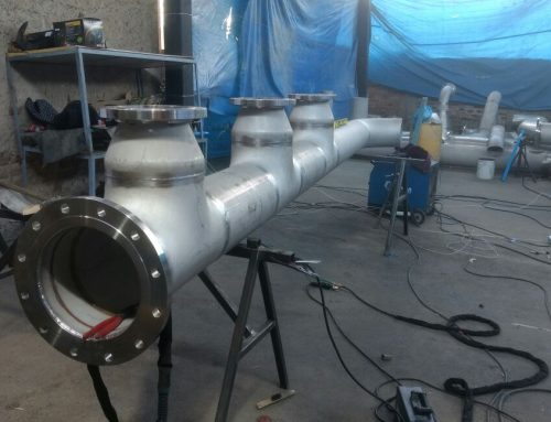 Fabricación de tubería  de inoxidable para agua helada